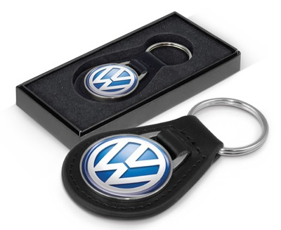 Custom Icon Round Leather Keyring