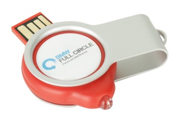 Domed Light Up Flash Drive