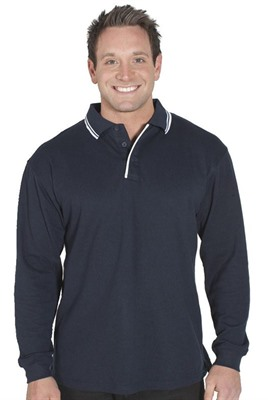 Long Sleeve Contrast Polo