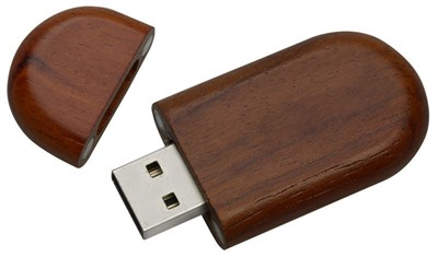 Oblong Wood Memory Stick