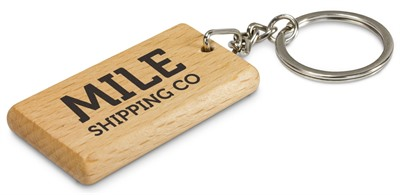 Rectangular Oak Key Chain