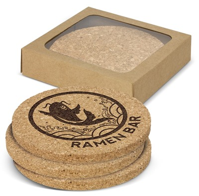 Round Cork Coaster Pack