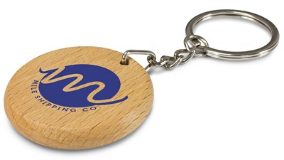 Round Oak Key Chain