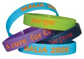 Colour Fill Silicone Wristband
