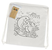 Cotton Colouring Drawstring Pack