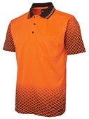 Diamond Sleeve Hi Vis Polo
