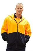 Fleece Hoodie Safety Jacket