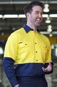 Hi Vis Dexter Long Sleeve Work Shirt