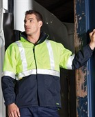 Hi Vis Hooded Waterproof Jacket