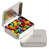 Hinge Tin with  65g Chewy Fruits