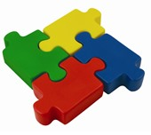 Jigsaw Pieces Stress Reliever