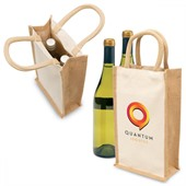 Two Bottle Jute Carrier